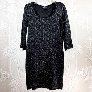 Ronni Nicole |  Black Knee Length Sequined Dress